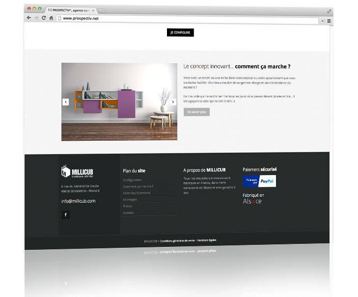 Cr ation de l 39 identit et du site internet de vente en ligne de meubles d - Site de vente de meubles ...