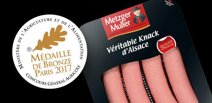 Metzger Muller récompensé par une médaille de bronze pour sa knack