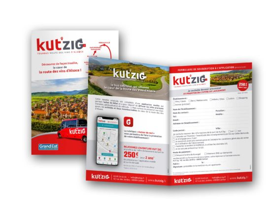Conception de documents commerciaux pour Kut'zig