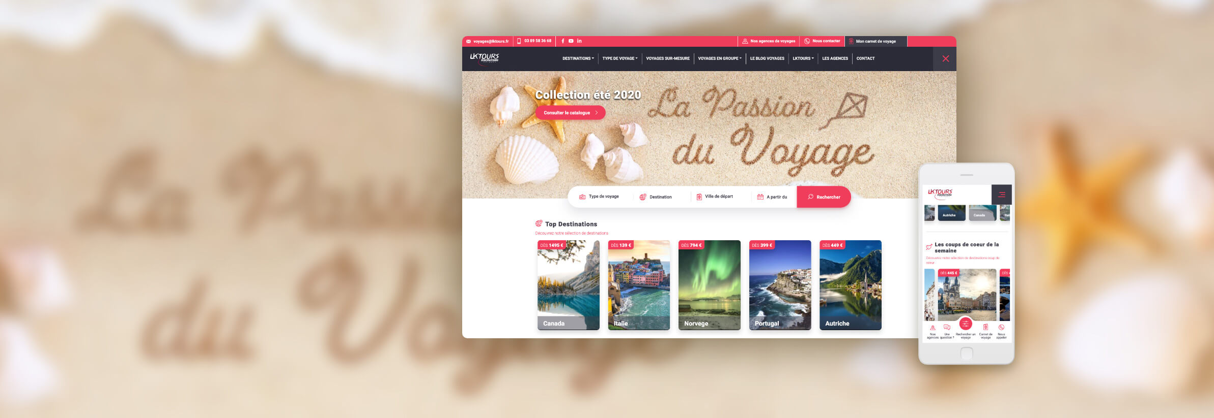 Refonte du site internet www.lktours.fr