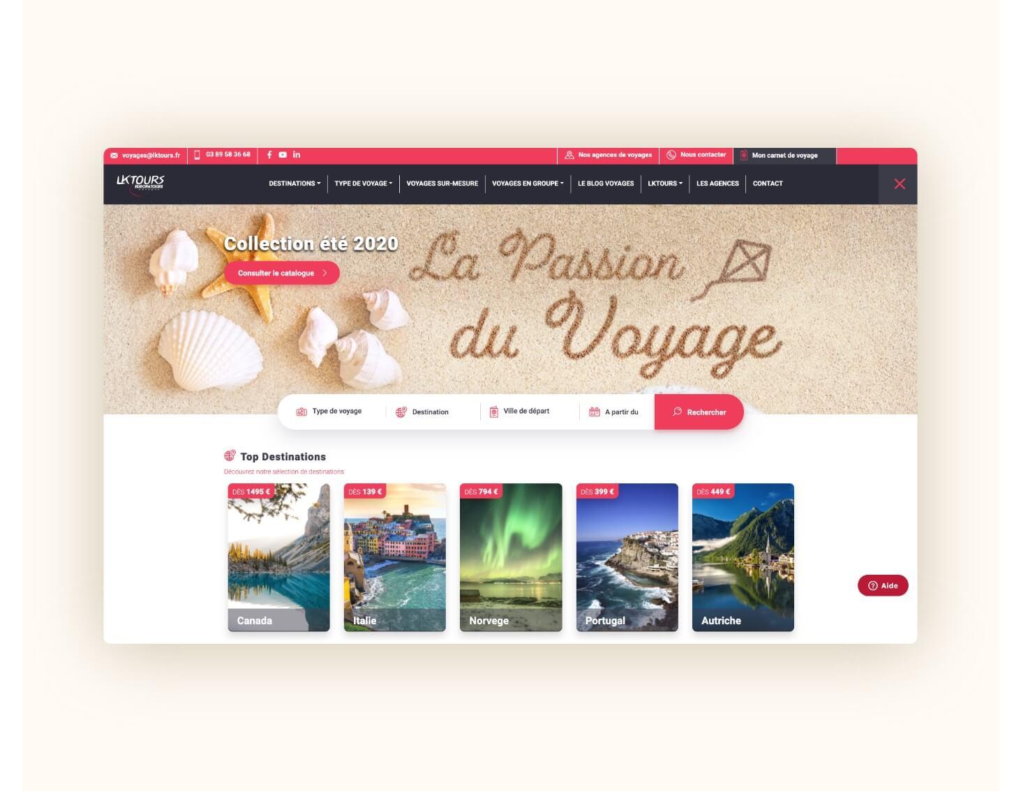 refonte site internet alsace colmar lktours.fr 3