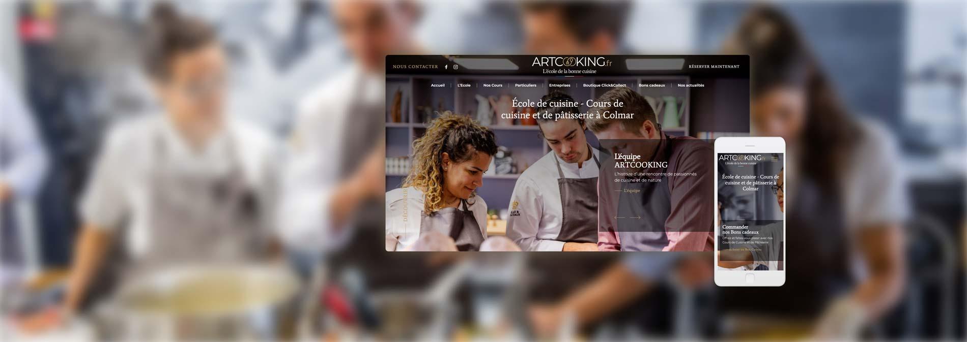 Création de site Internet pour Artcooking