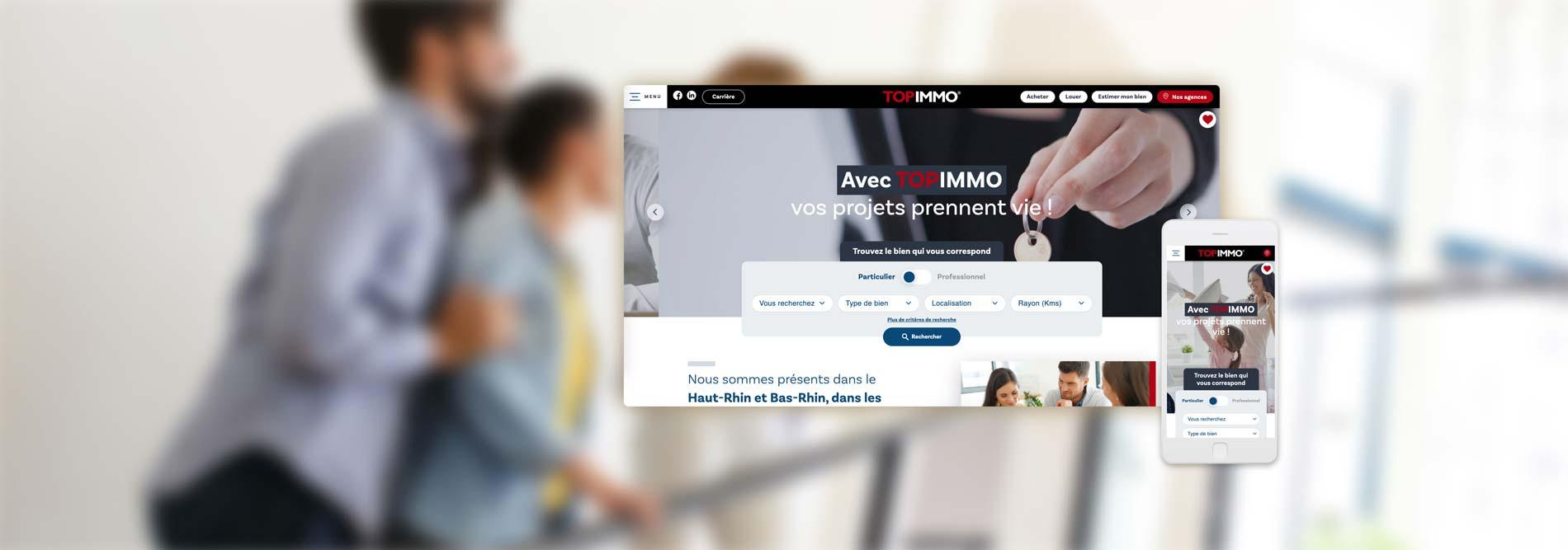 Création de site Internet pour Top Immo